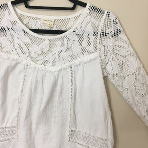 Anthropologie Meadow Rue Boho Crochet Top